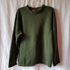 The North Face men's dark green pull over sweater